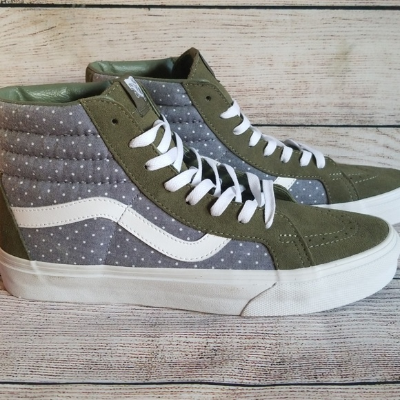 Vans Sk8 Hi Reissue Chambray Dots Men's 9